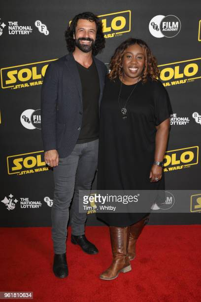 Christian Vit and Chizzy Akudolu attend special BFI screening of 'Solo A Star Wars Story' to celebrate the film's BFI Film Academy trainees at BFI...