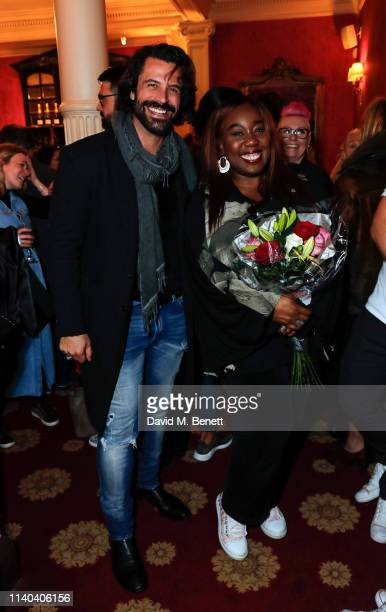 Christian Vit and Chizzy Akudolu attend the Gala Night after party for Edmond de Bergerac at The Richmond Theatre on April 30 2019 in Richmond England