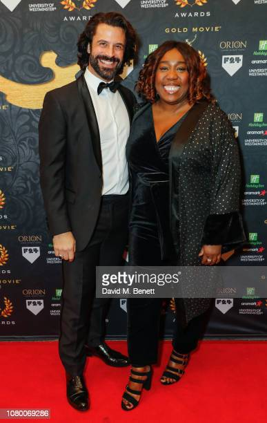 Christian Vit and Chizzy Akudolu attend The Gold Movie Awards at the Regent Street Cinema on January 10 2019 in London England