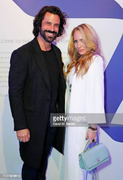 Christian Vit and Coralie Jo attend the launch of The House Of Peroni on February 26 2019 in London England