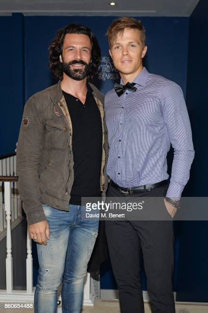 Christian Vit and Dan Olsen attend the Dorothy Circus Gallery 10th anniversary exhibition Pages From Mind Travellers Diaries on October 12 2017 in...