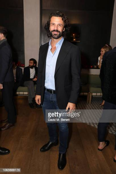 Christian Vit and Guest at Fucina's Festa Italiana on November 20 2018 in London England