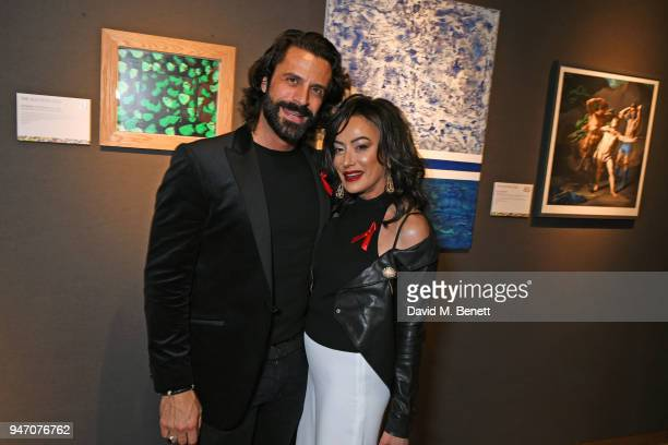 Christian Vit and Nancy Dell'Olio attend the Terrence Higgins Trust annual charity auction raising vital funds to support people living with and...