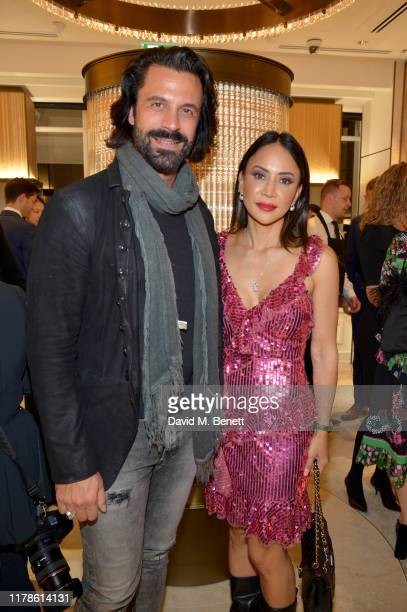 Christian Vit and Vicky Lee attend the reopening of the Mikimoto Bond Street Boutique on October 02 2019 in London England Guests were welcomed by Mr...