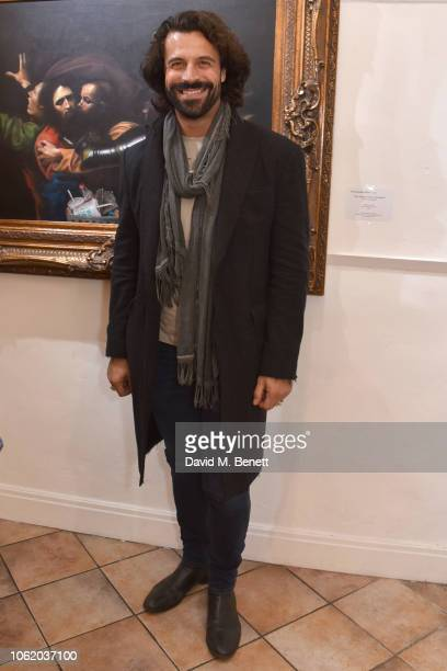 Christian Vit attends a private view of artist Paul Karslake's exhibition at The Marylebone Gallery on November 15 2018 in London England