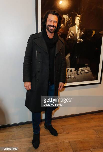 Christian Vit attends a private view of the Sir Hubert Von Herkomer Arts Foundation exhibition Next Generation at Alon Zakaim Fine Art on January 24...