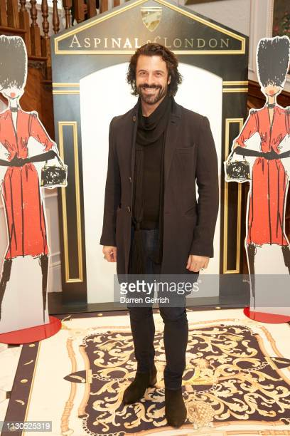 Christian Vit attends the Aspinal of London AW19 presentation during London Fashion Week February 2019 at the Aspinal Of London store on February 18...