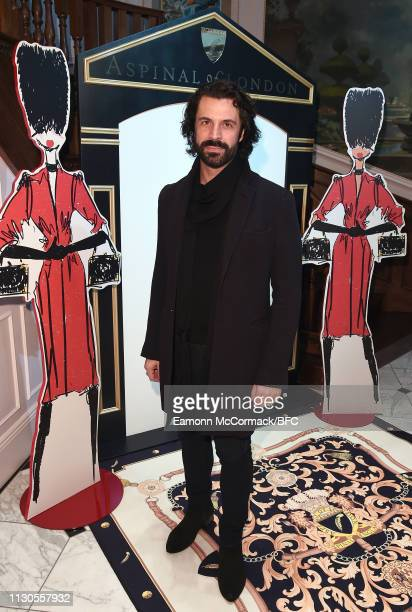 Christian Vit attends the Aspinal of London AW19 presentation during London Fashion Week February 2019 at the Aspinal Of London on February 18 2019...