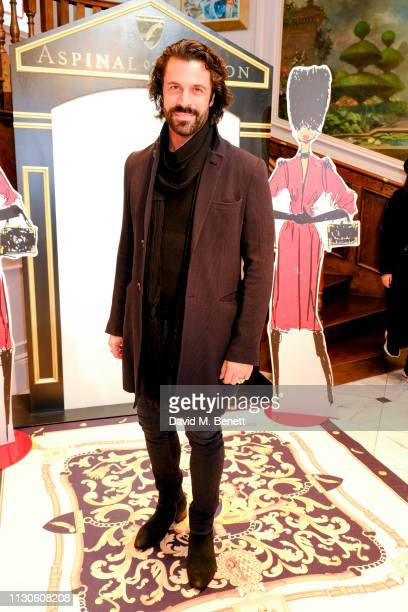Christian Vit attends the Aspinal of London presentation during London Fashion Week February 2019 at Aspinal Of London on February 18 2019 in London...