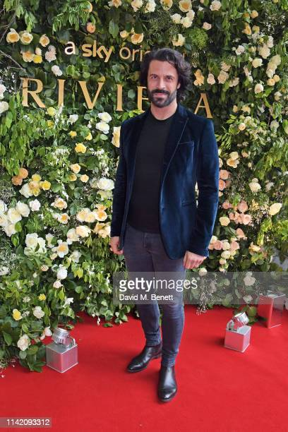 Christian Vit attends the Premiere Screening for the new season of Sky Original Riviera at The Saatchi Gallery on May 7 2019 in London England