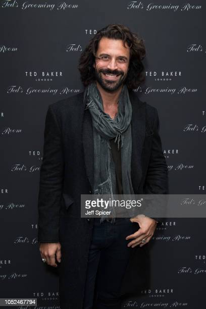 Christian Vit attends the Ted's Grooming Room Grand Opening On Dorset Street on October 18 2018 in London England