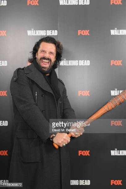 Christian Vit attends the VIP launch of The Walking Dead Art Apocalypse Immersive Exhibition at The Truman Brewery on February 07 2019 in London...