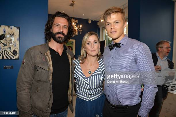 Christian Vit Lee Sharrock and Dan Olsen attend the Dorothy Circus Gallery 10th anniversary exhibition Pages From Mind Travellers Diaries on October...