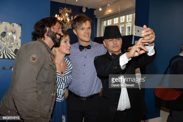 Christian Vit Lee Sharrock Dan Olsen and Stuart Watts attend the Dorothy Circus Gallery 10th anniversary exhibition Pages From Mind Travellers...