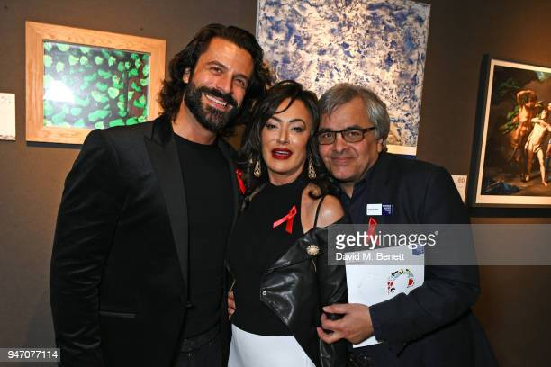Christian Vit Nancy Dell'Olio and Baldassare La Rizza attend the Terrence Higgins Trust annual charity auction raising vital funds to support people...