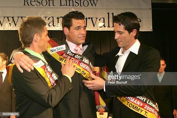 Christian Vogler Michael Teller Robert Straßer Wahl zum Mister Germany 2005/06 Linstow Deutschland PNr 1649/2005 Van der Valk Resort Sieger Tränen...