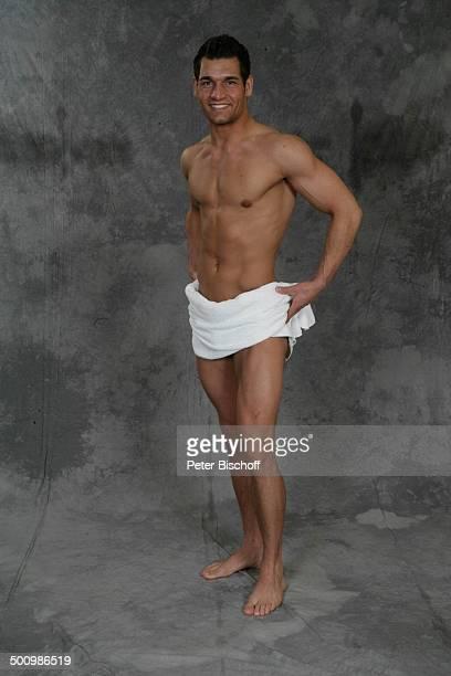 Christian Vogler Wahl zum Mister Germany 2005/06 Linstow Deutschland PNr 1649/2005 Van der Valk Resort Sieger nackter OberkörperHandtuch sexy...