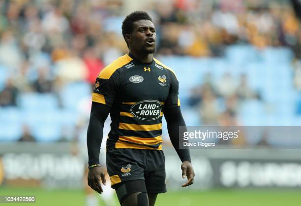 Christian Wade of Wasps looks on during the Gallagher Premiership Rugby match between Wasps and Leicester Tigers at the Ricoh Arena on September 16...