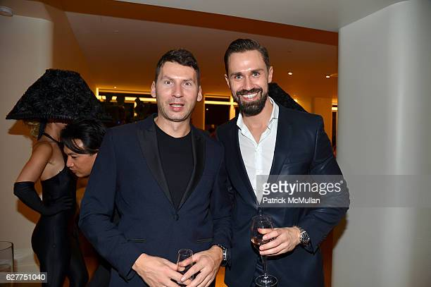 Christian Waldmann and Daniel Funke attend Galerie Gmurzynska Sir Norman Rosenthal and Claude RuizPicasso Dinner at Art Basel Miami Beach 2016 at...