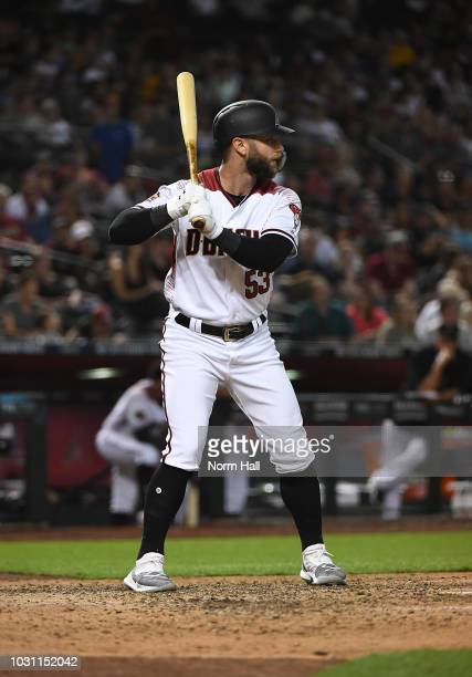 Christian Walker of the Arizona Diamondbacks gets ready in the batters box against the San Diego Padres at Chase Field on September 3 2018 in Phoenix...