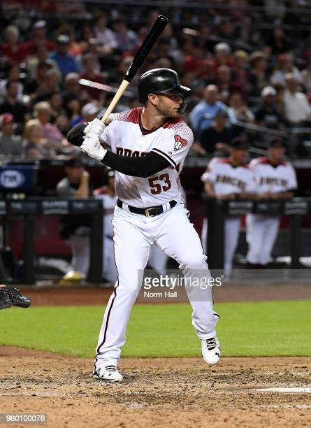Christian Walker of the Arizona Diamondbacks gets ready in the batters box against the Milwaukee Brewers at Chase Field on May 16 2018 in Phoenix...