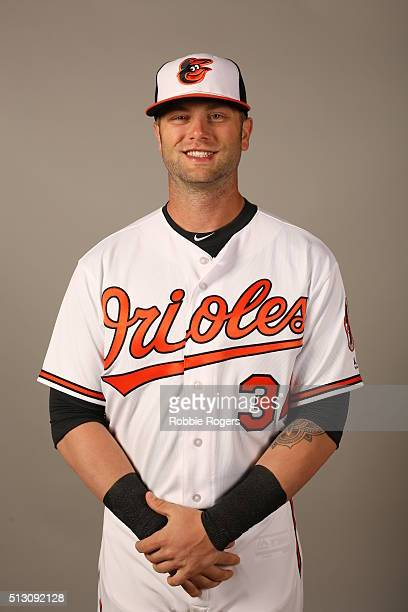 Christian Walker of the Baltimore Orioles poses during Photo Day on Sunday February 28 2016 at Ed Smith Stadium in Sarasota Florida