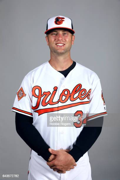 Christian Walker of the Baltimore Orioles poses during Photo Day on Monday February 20 2017 at Ed Smith Stadium in Sarasota Florida