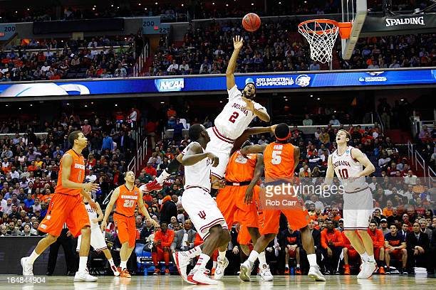 Christian Watford of the Indiana Hoosiers goes to the hoop against the Indiana Hoosiers during the East Regional Round of the 2013 NCAA Men's...