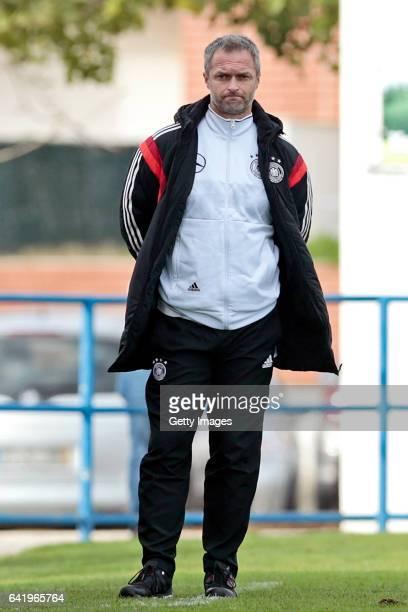 Christian Wück of Germany U17 during the U17 Algarve Cup Tournament Match between Portugal U17 and germany U17 on February 14 2017 in Ferreiras...