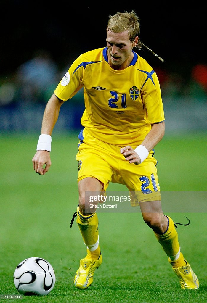 Christian Wilhelmsson of Sweden in action during the FIFA World Cup Germany 2006 Group B match between Sweden and Paraguay played at the Olympic Stadium on June 15, 2006 in Berlin, Germany.