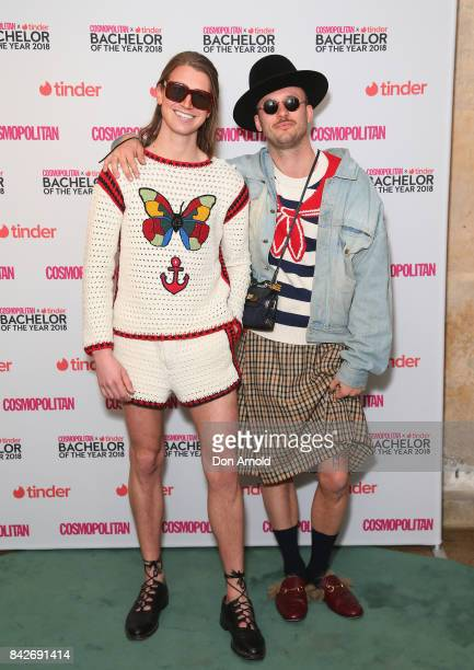 Christian Wilkins and Andrew Kelly attends the Cosmopolitan Tinder Bachelor Of The Year 2018 PreGame Lunch on September 5 2017 in Sydney Australia