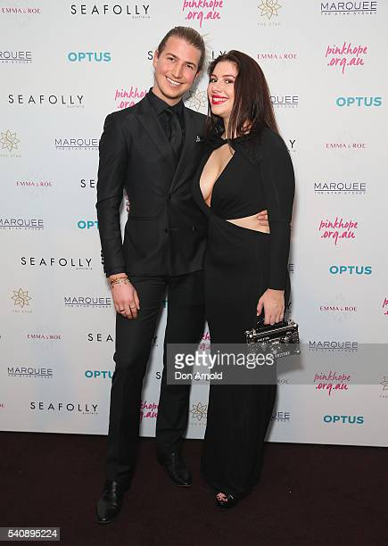 Christian Wilkins and Francesca Packer arrive ahead of the 2016 Pinky Promise Gala at The Star on June 17 2016 in Sydney Australia