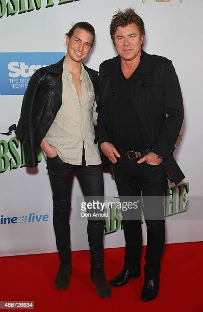 Christian Wilkins and Richard Wilkins arrive ahead of ABSINTHE by Spiegelworld Opening Night at Hyde Park on September 17, 2015 in Sydney, Australia.