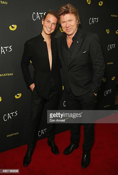 Christian Wilkins and Richard Wilkins arrive ahead of CATS opening night at Capitol Theatre on November 1 2015 in Sydney Australia