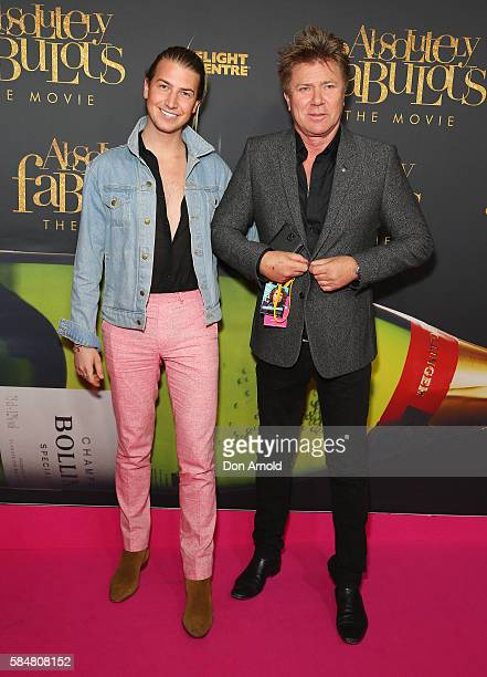 Christian Wilkins and Richard Wilkins arrive ahead of the Absolutely Fabulous The Movie Australian premiere at State Theatre on July 31 2016 in...