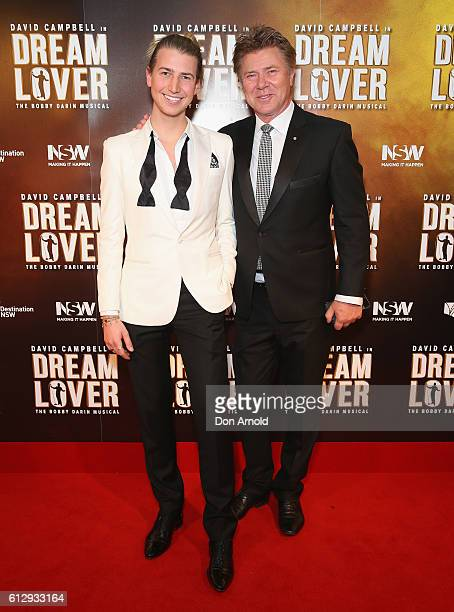 Christian Wilkins and Richard Wilkins arrive ahead of the premiere of Dream Lover - The Bobby Darin Musical at Lyric Theatre, Star City on October 6,...