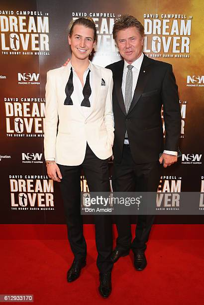 Christian Wilkins and Richard Wilkins arrive ahead of the premiere of Dream Lover The Bobby Darin Musical at Lyric Theatre Star City on October 6...