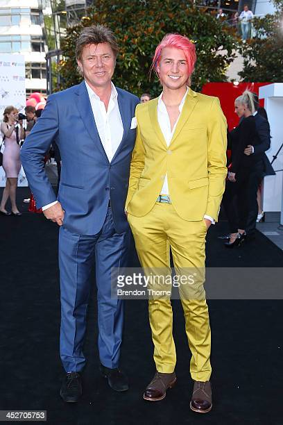 Christian Wilkins and Richard Wilkins arrive at the 27th Annual ARIA Awards 2013 at the Star on December 1 2013 in Sydney Australia