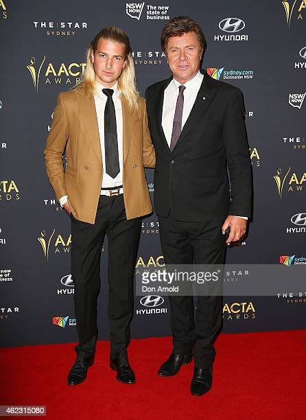 Christian Wilkins and Richard Wilkins arrive at the 4th AACTA Awards Luncheon at The Star on January 27, 2015 in Sydney, Australia.
