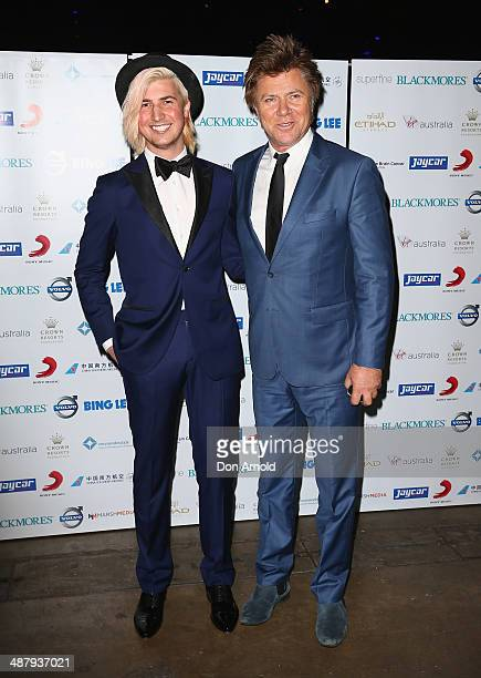 Christian Wilkins and Richard Wilkins arrive at the Cure Brain Cancer Foundation Mad Hatter Ball on May 3, 2014 in Sydney, Australia.