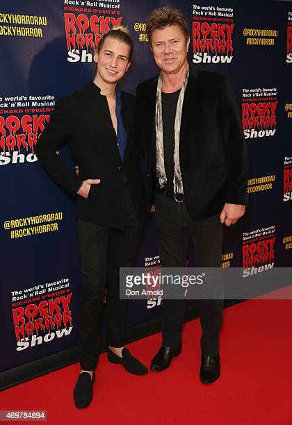 Christian Wilkins and Richard Wilkins arrive at the opening night of the Rocky Horror Picture Show at the Lyric Theatre, Star City on April 15, 2015...