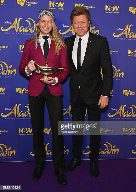 Christian Wilkins and Richard Wilkins arrive at the Opening Night of Aladdin at State Theatre on August 11 2016 in Sydney Australia