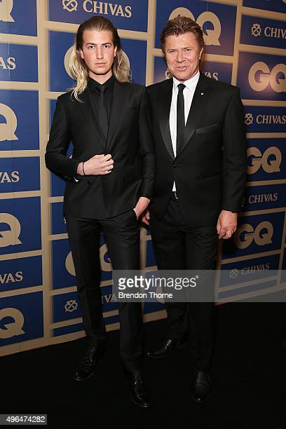 Christian Wilkins and Richard Wilkins arrives ahead of the 2015 GQ Men Of The Year Awards on November 10 2015 in Sydney Australia