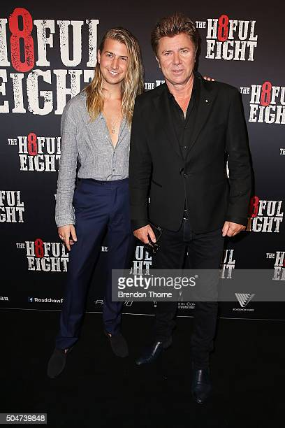 Christian Wilkins and Richard Wilkins arrives ahead of the Australian premiere of The Hateful Eight at Event Cinemas George Street on January 13 2016...
