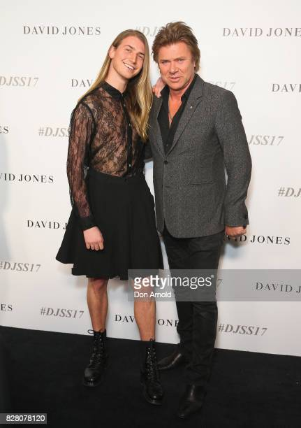 Christian Wilkins and Richard Wilkins arrives ahead of the David Jones Spring Summer 2017 Collections Launch at David Jones Elizabeth Street Store on...