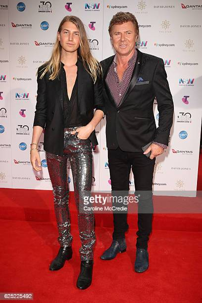 Christian Wilkins and Richard Wilkins arrives for the 30th Annual ARIA Awards 2016 at The Star on November 23, 2016 in Sydney, Australia.