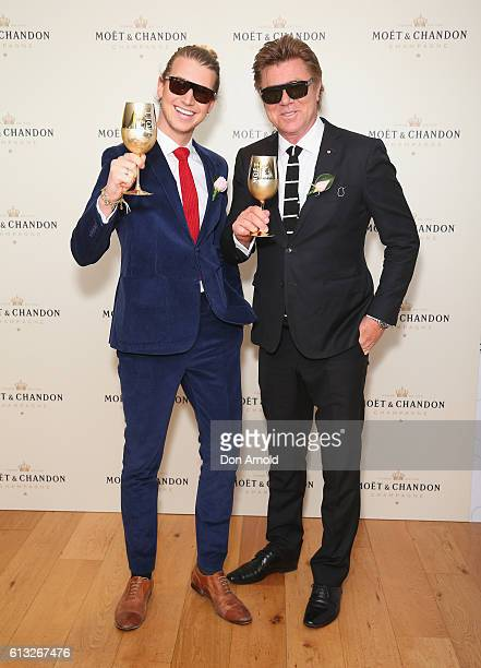 Christian Wilkins and Richard Wilkins attend Spring Champion Stakes Day at Royal Randwick Racecourse on October 8 2016 in Sydney Australia