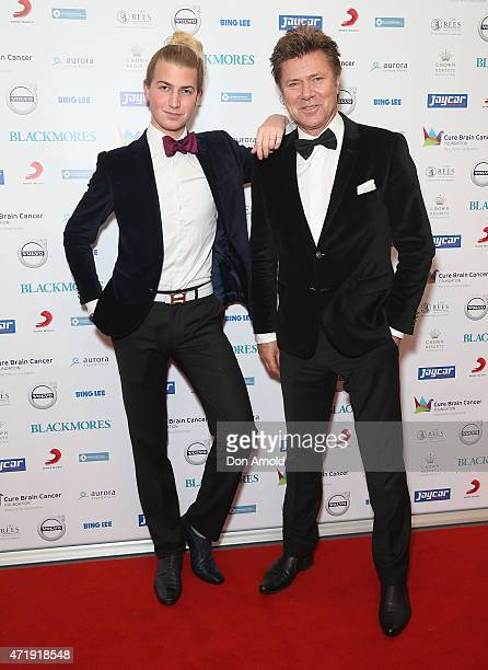 Christian Wilkins and Richard Wilkins attend the Cure Brain Cancer Foundation 1930s Hollywood Glamour Ball at the Hordern Pavillion on May 2 2015 in...