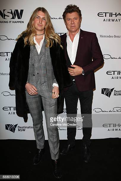 Christian Wilkins and Richard Wilkins attend the Oscar de la Renta show, presented by Etihad Airways, at Mercedes-Benz Fashion Week Resort 17...