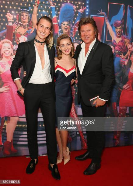 Christian Wilkins Rebecca Wilkins and Richard Wilkins arrive for the opening night of Cyndi Lauper's Kinky Boots at Capitol Theatre on April 19 2017...